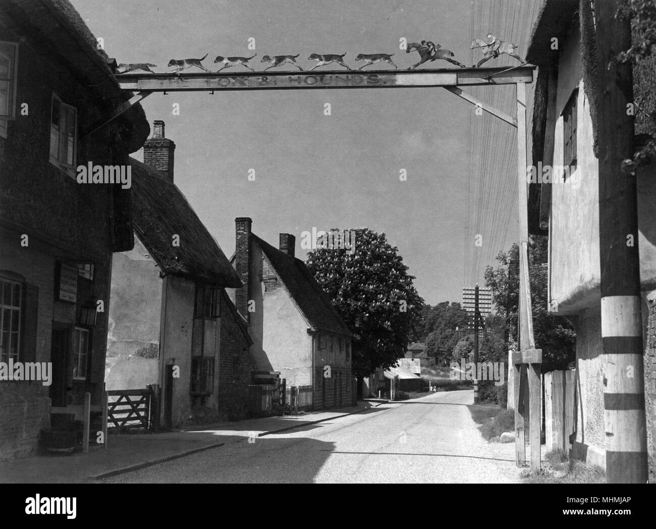 The Fox and Hounds at Barley, Hertfordshire.      Date: 1947 Stock Photo
