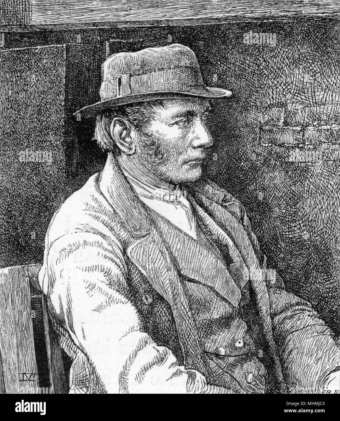 CHRISTIAN ALMER Alpine mountain guide.       Date: circa 1855 - Stock Image