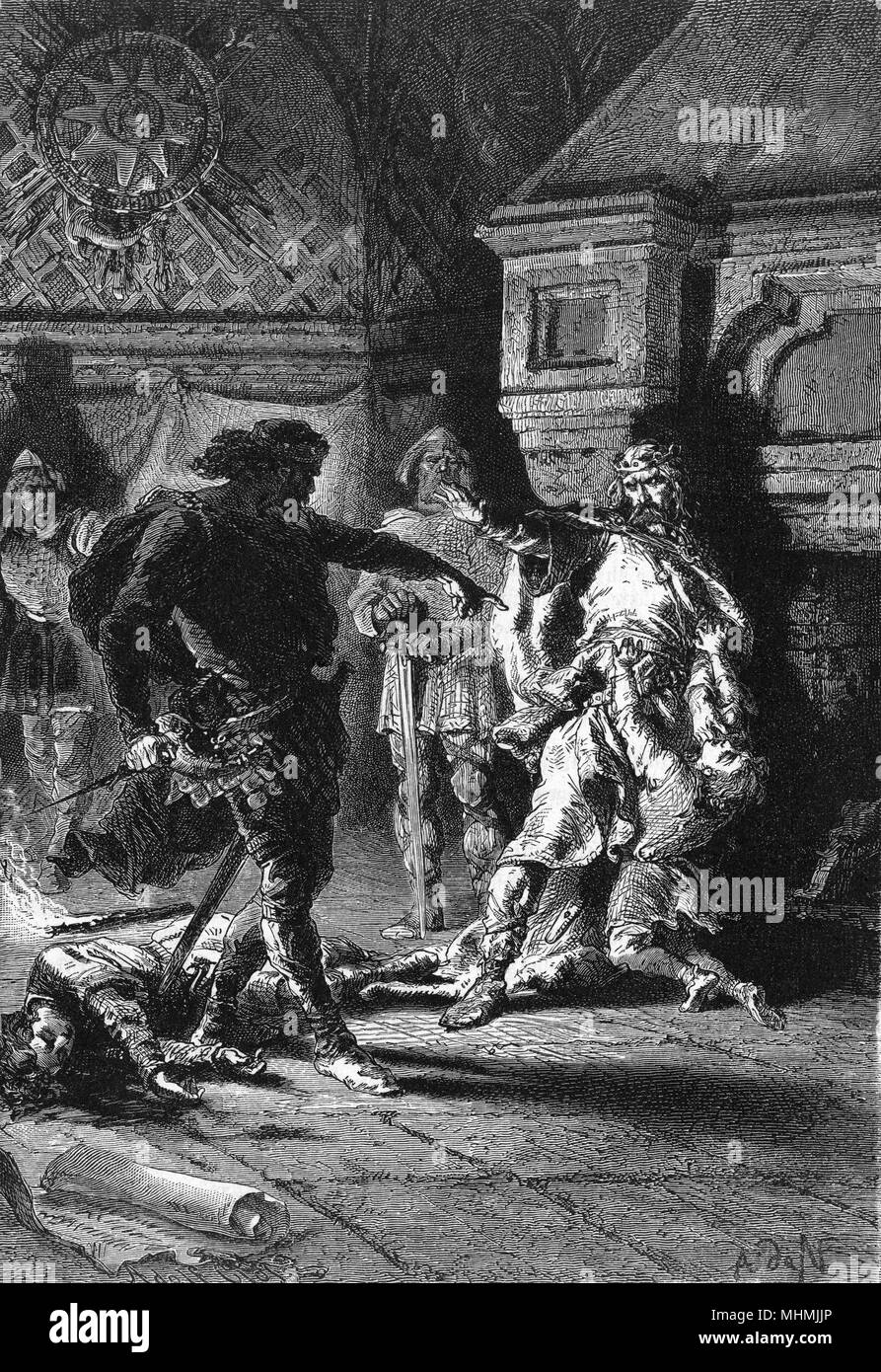 Clovis at odds with his kinsmen.       Date: circa 509 - Stock Image