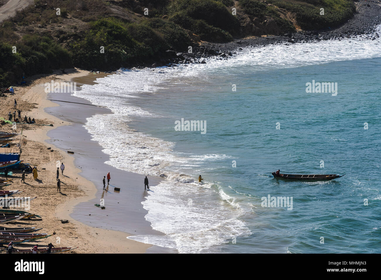 Coast of Dakar, the capital and largest city of Senegal. Stock Photo