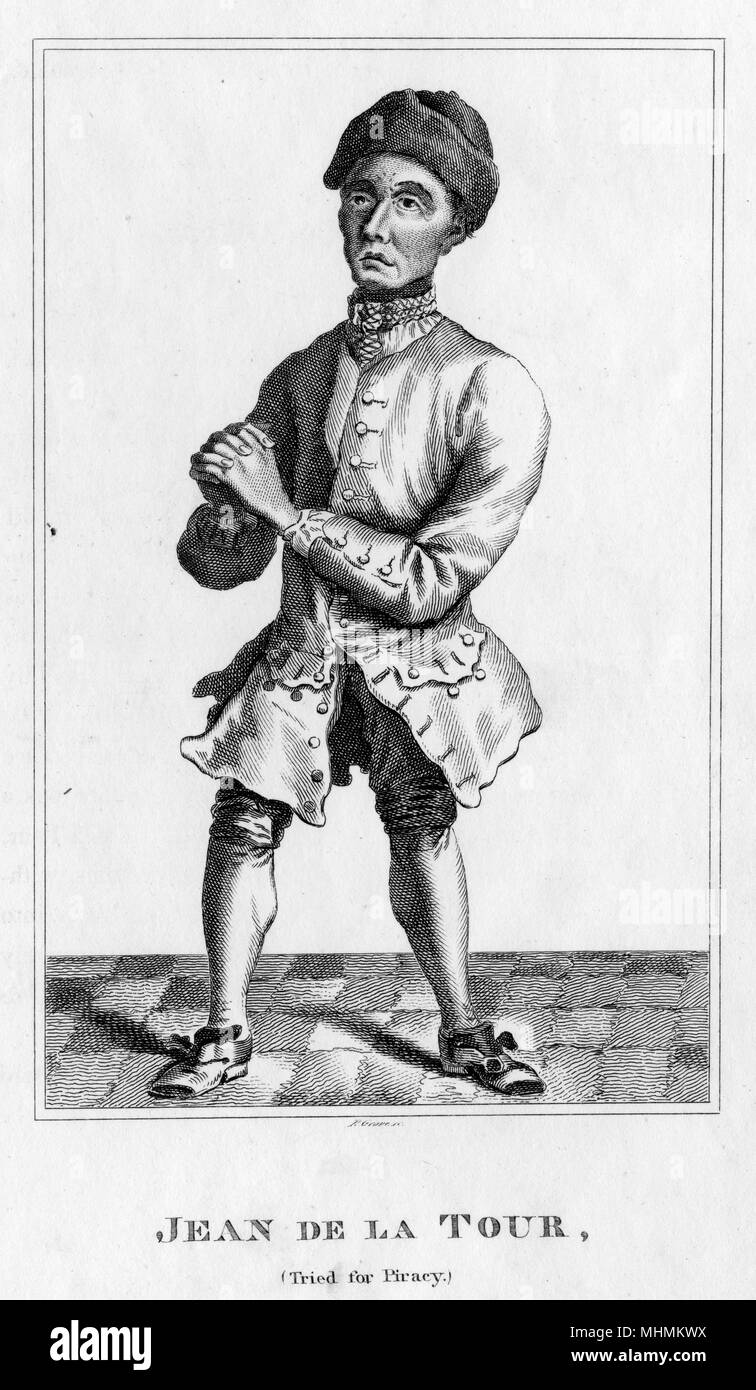 Jean de la Tour, tried for piracy.       Date: Seventeenth century - Stock Image