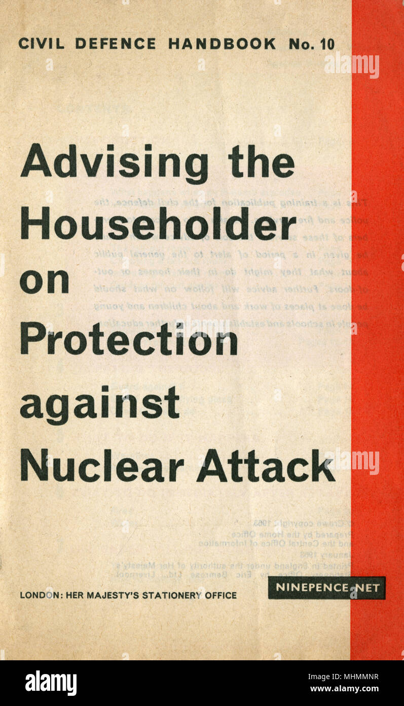 Advising the Householder on Protection against Nuclear Attack cover - Stock Image