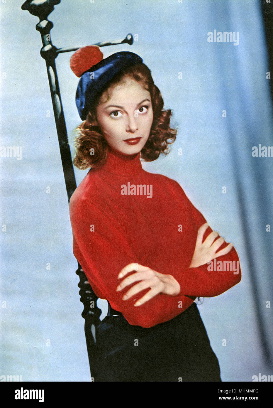 Pier Angeli, Italian born television and film star, poses for photo after film.     Date: 1944-1945 - Stock Image