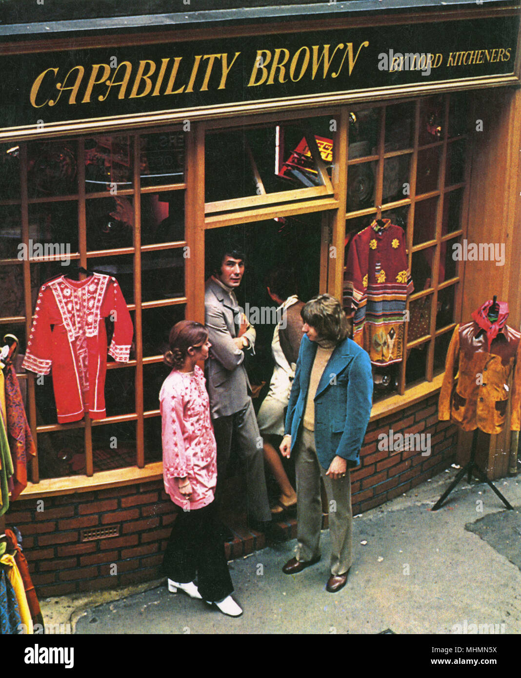 Capability Brown, a sister boutique to I Was Lord Kitchener's Valet in Carnaby Street, London during the swinging sixties.      Date: 1967 - Stock Image