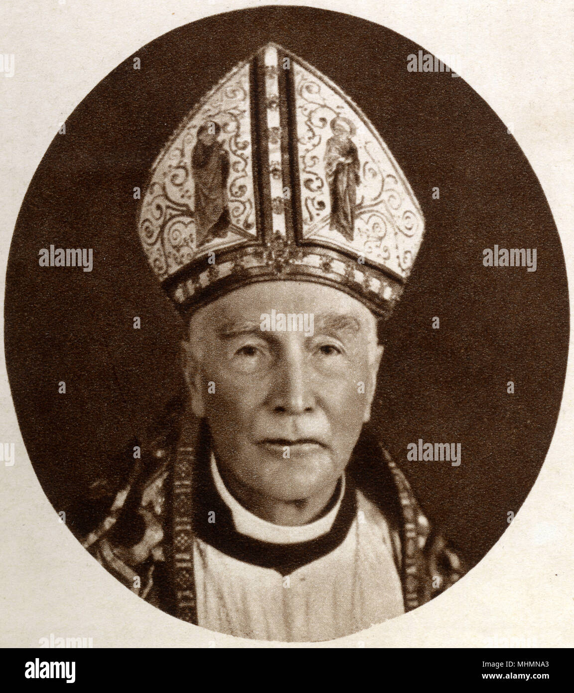 Arthur Foley Winnington-Ingram (18581946) - Bishop of London from 1901 to 1939 Photograph taken at the time of the coronation Book of King George VI and Queen Elizabeth on 12th May 1937.     Date: 1937 Stock Photo