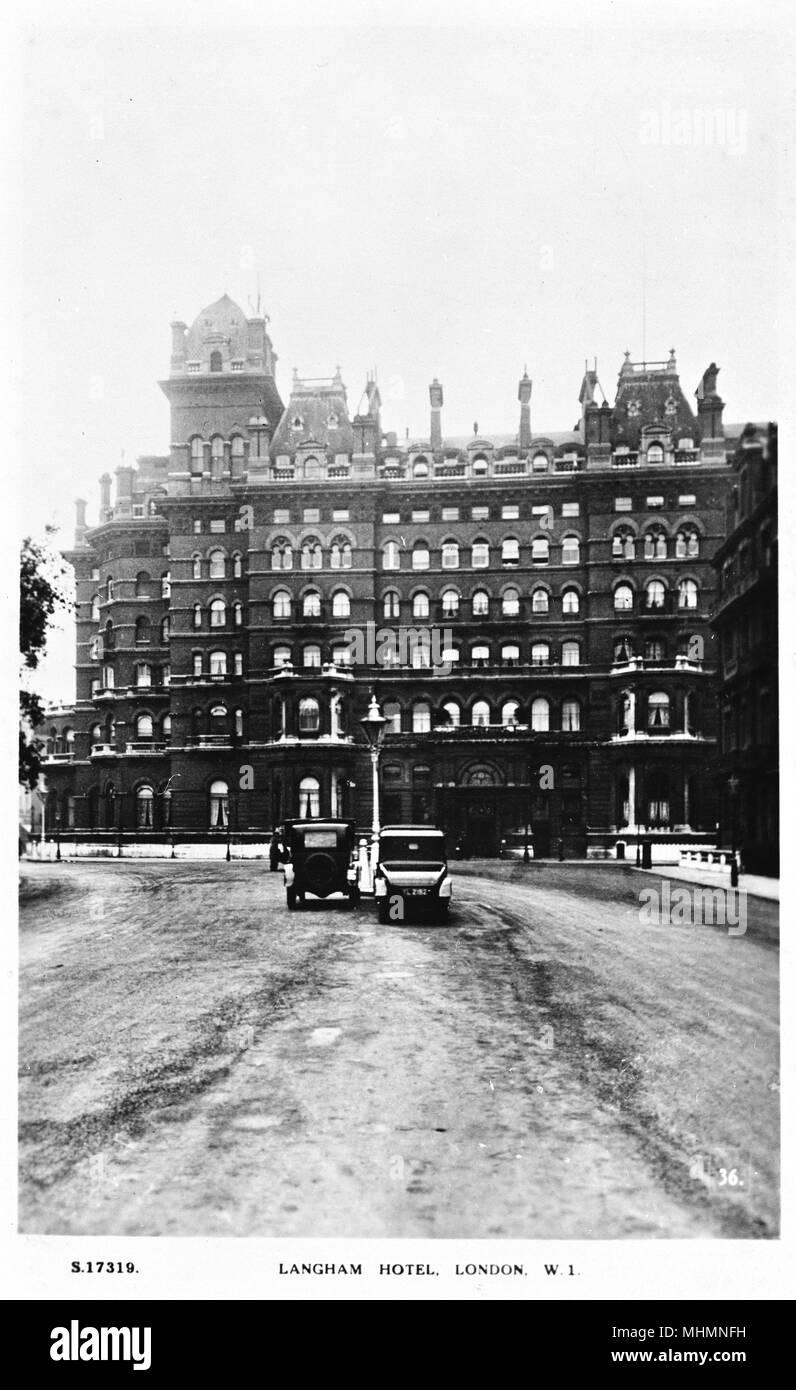 Portland Foyer Langham Hotel : The london hotel black and white stock photos images alamy