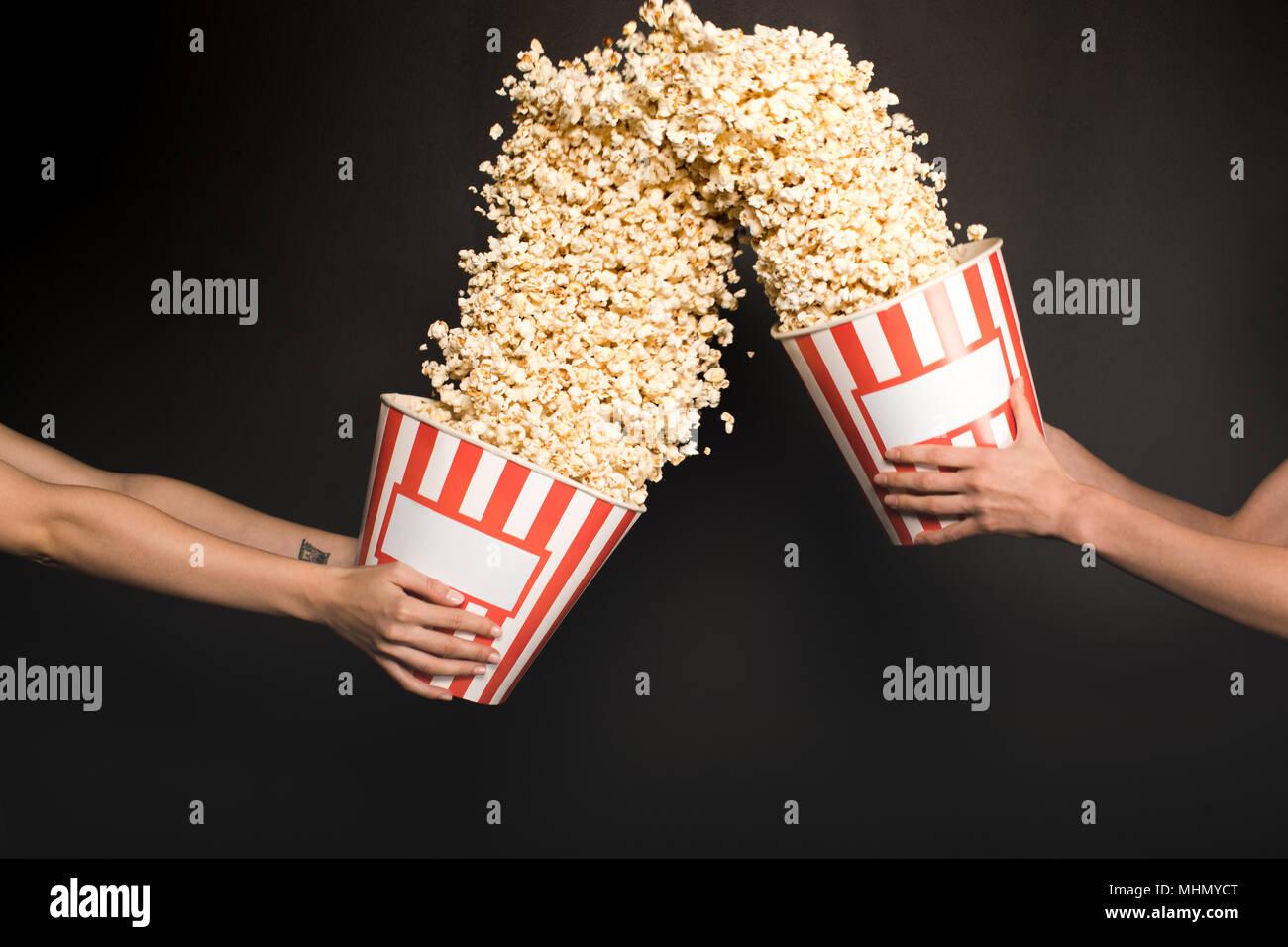 Dick in popcorn