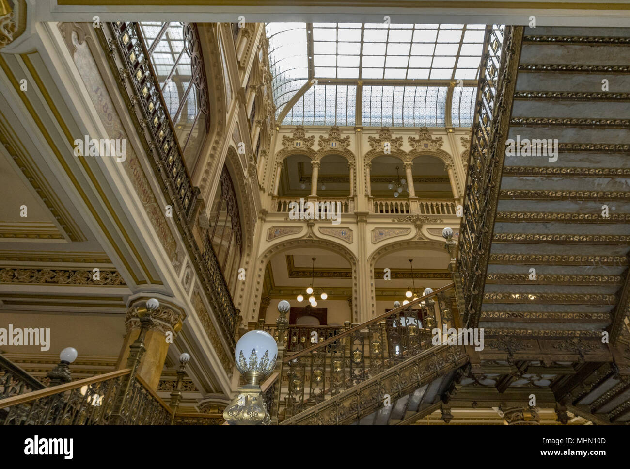 MEXICO CITY, MEXICO - NOVEMBER 5 2017- The Postal Palace was built at the beginning of the 1900 and was the most modern of the time, with very eclecti - Stock Image