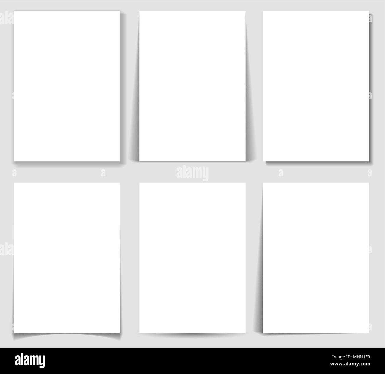 set of paper effect with transparent realistic shadows web banner