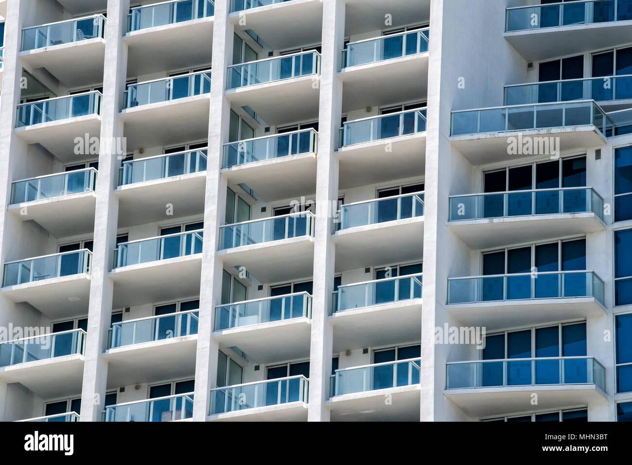 miami beach modern condos apartments on sunny day Stock ...
