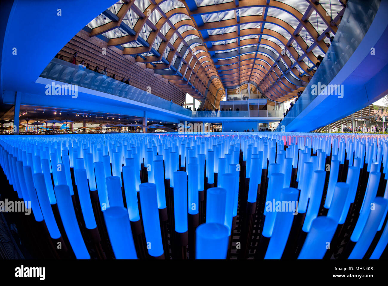 MILAN, ITALY - 17 SEPTEMBER 2015 - Expo is fully crowded for Last days of exhibition - Stock Image