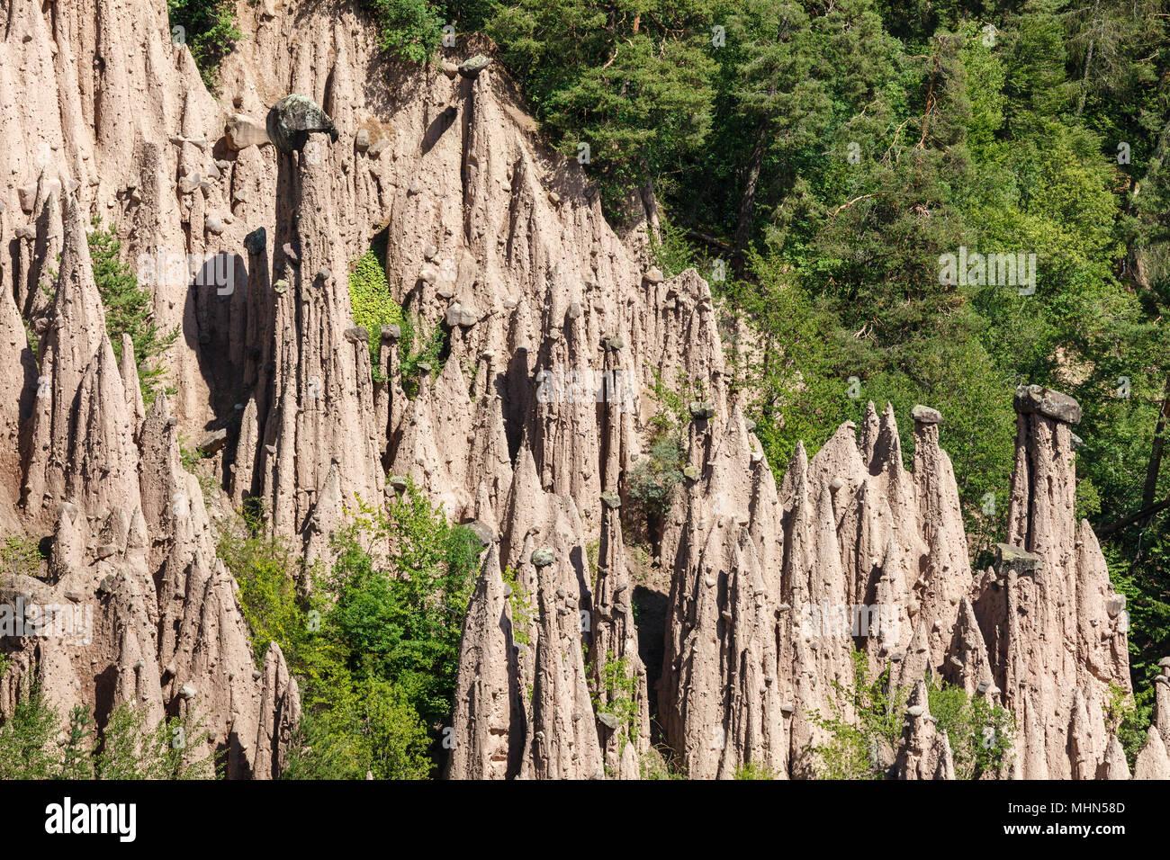 Piramidi di Terra, Renon, Italy - Stock Image