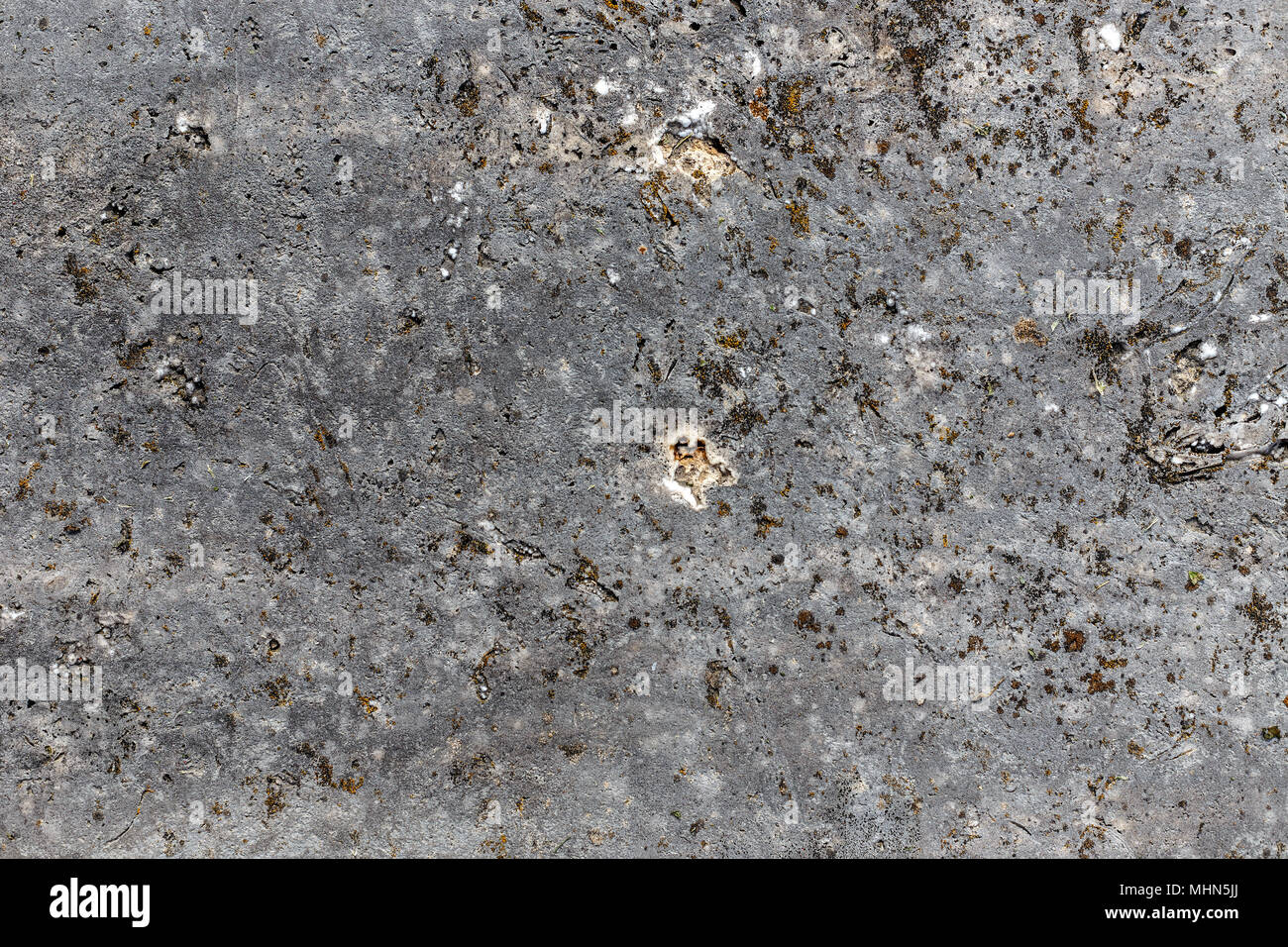 Outdoor polished rock texture, stone floor texture background - Stock Image
