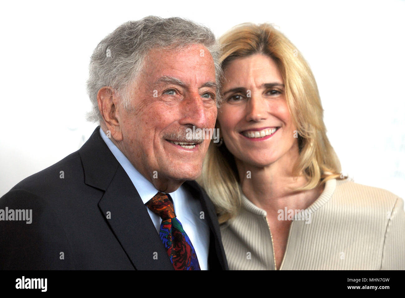 Tony Bennett and his wife Susan Crow attending the 45th Chaplin Award Gala at Alice Tully Hall on April 30, 2018 in New York City. - Stock Image