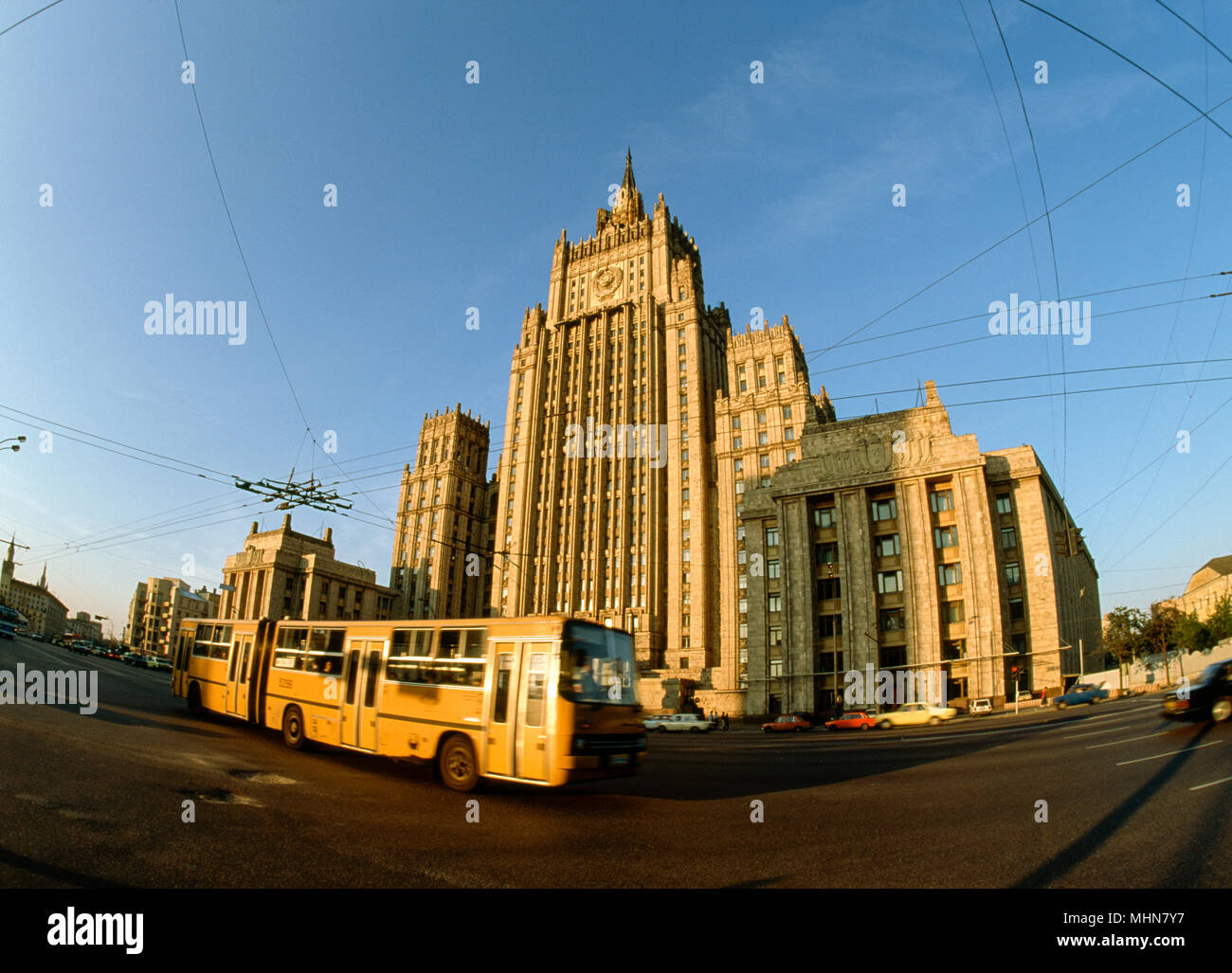 Moscow, Russia; Ministry of Foreign Affairs building Stock Photo