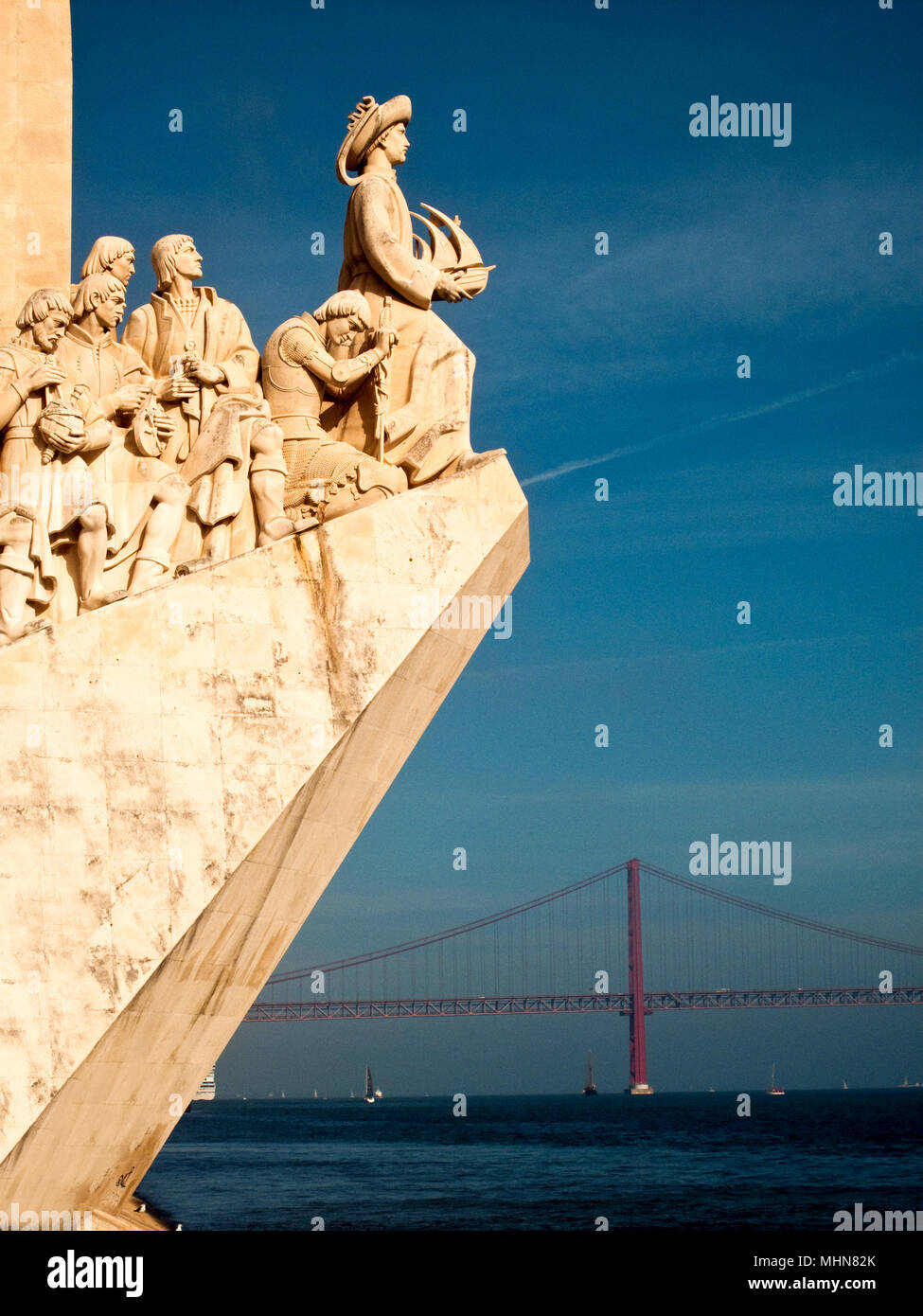 Lisbon, Portugal; explorer's monument - Stock Image
