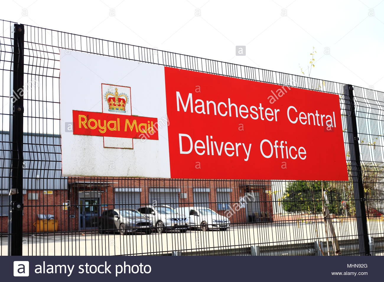 Royal Mail Central Manchester Delivery Office At Ardwick Manchester May 2018 - Stock Image