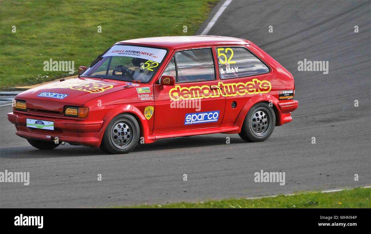 28th April 2018, Anglesey Circuit / Trac Môn,UK. Kerax Hyperdrive ST-XR Challenge, Race 1 - Stock Image