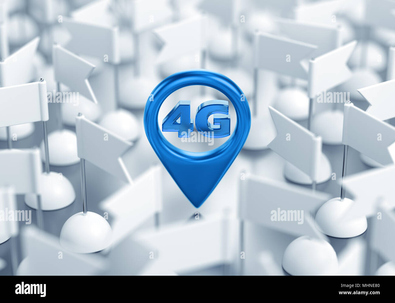 Access Point Location Of 4G Wireless Network - Stock Image
