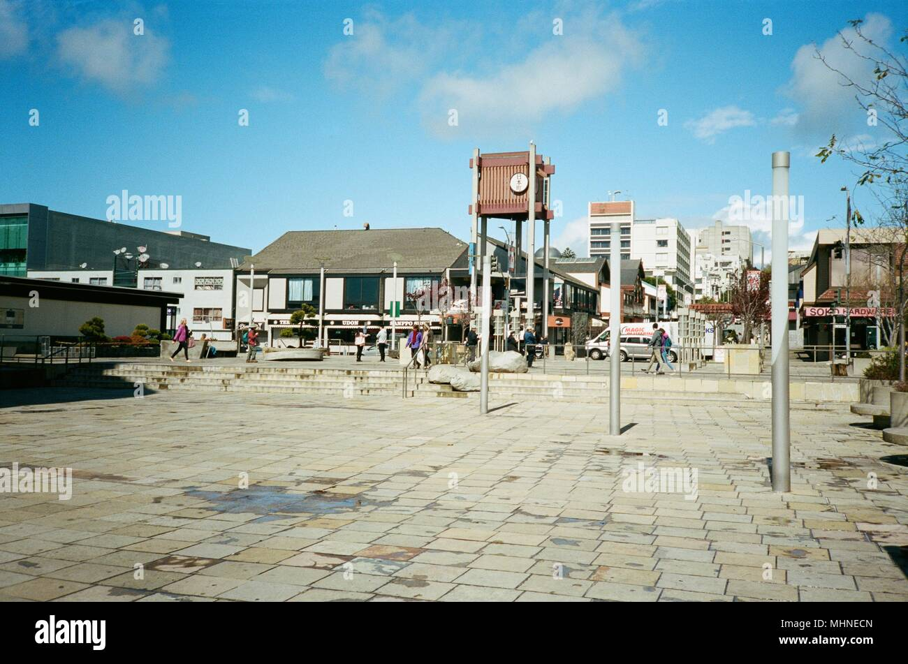 Peace Plaza, a public park in Japantown, San Francisco, California on a sunny day, March 14, 2018. () - Stock Image