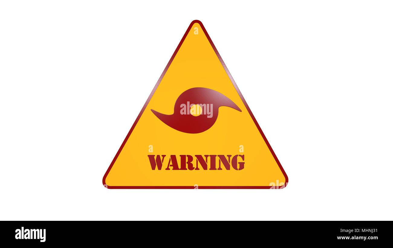 Hurricane Warning Sign Stock Photos Hurricane Warning Sign Stock