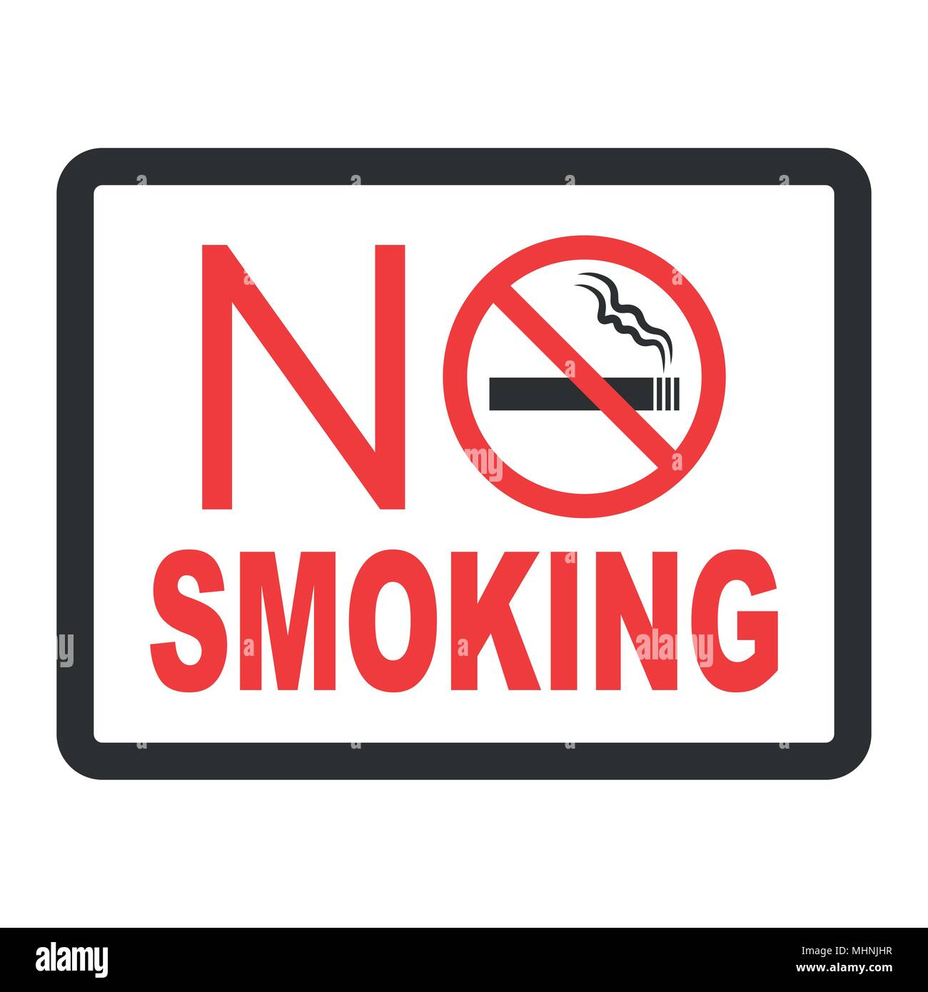 No smoking black color sign on white background - Stock Vector