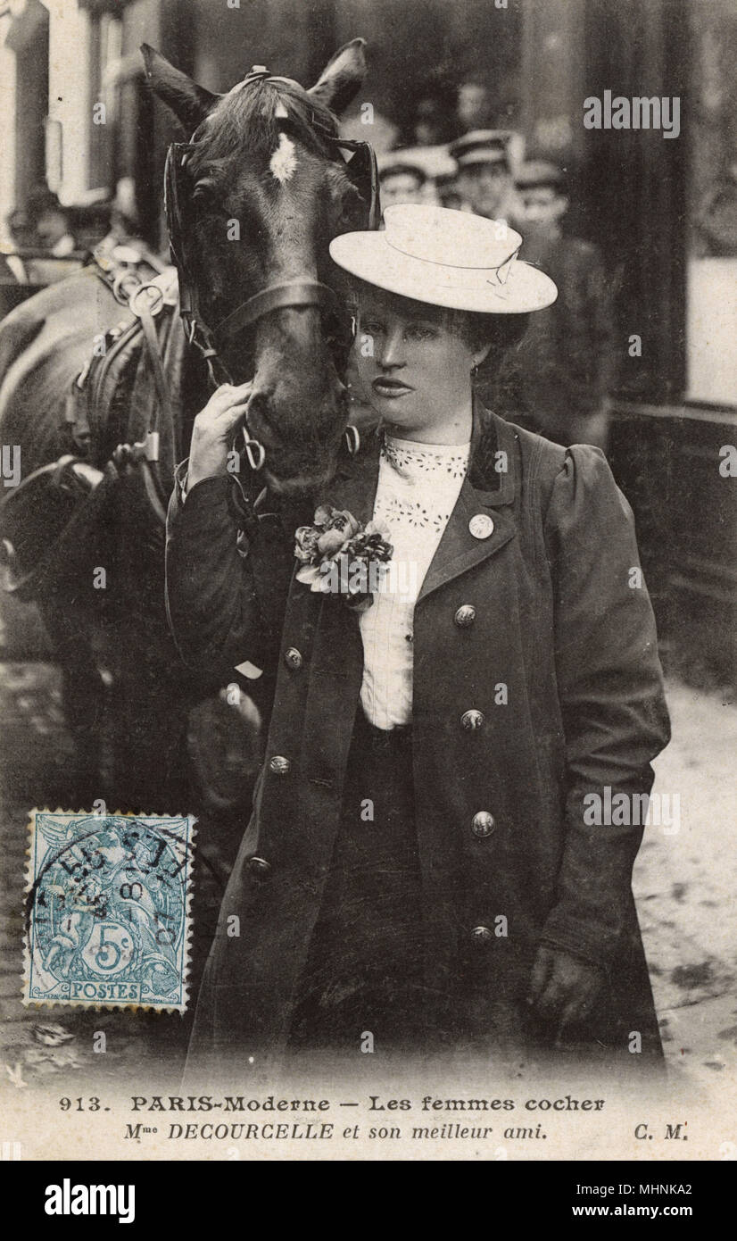 Female French Horse Cab Driver - Madame Decourcelle and her