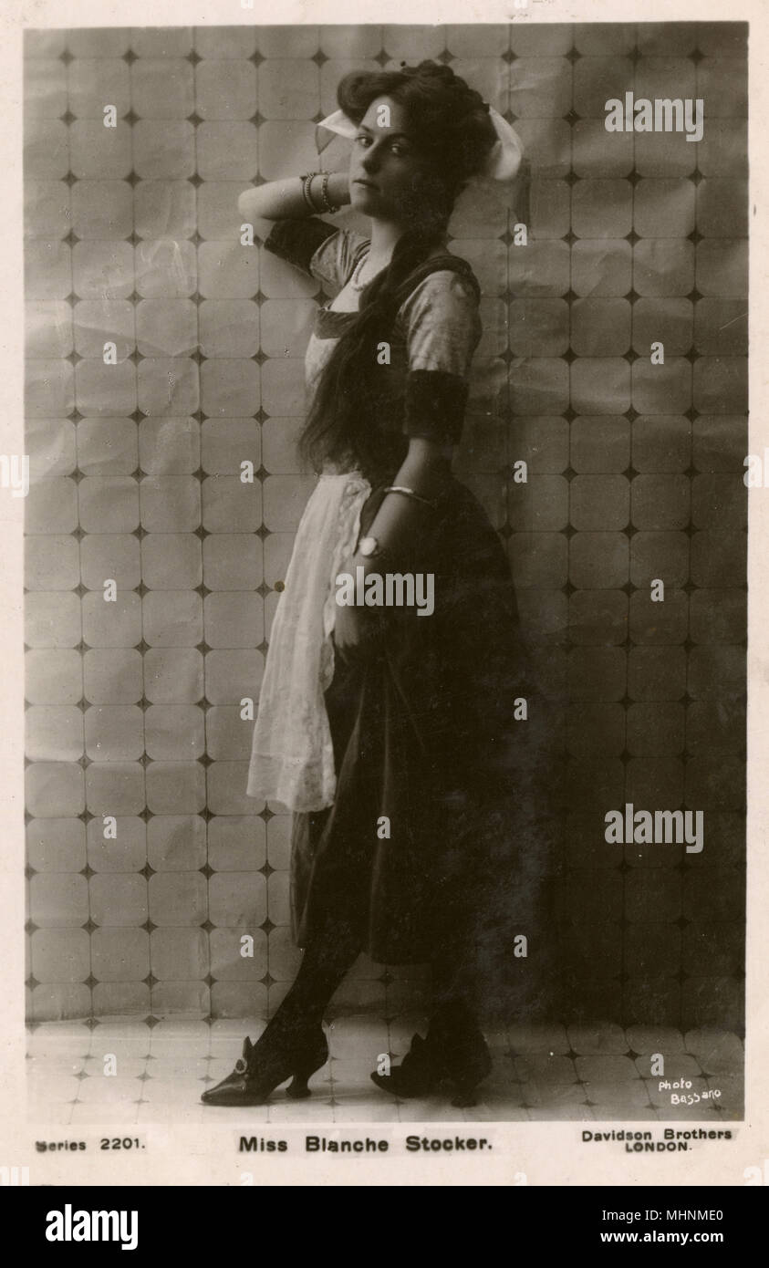Miss Blanche Stocker - British Stage Actress.     Date: 1910 Stock Photo