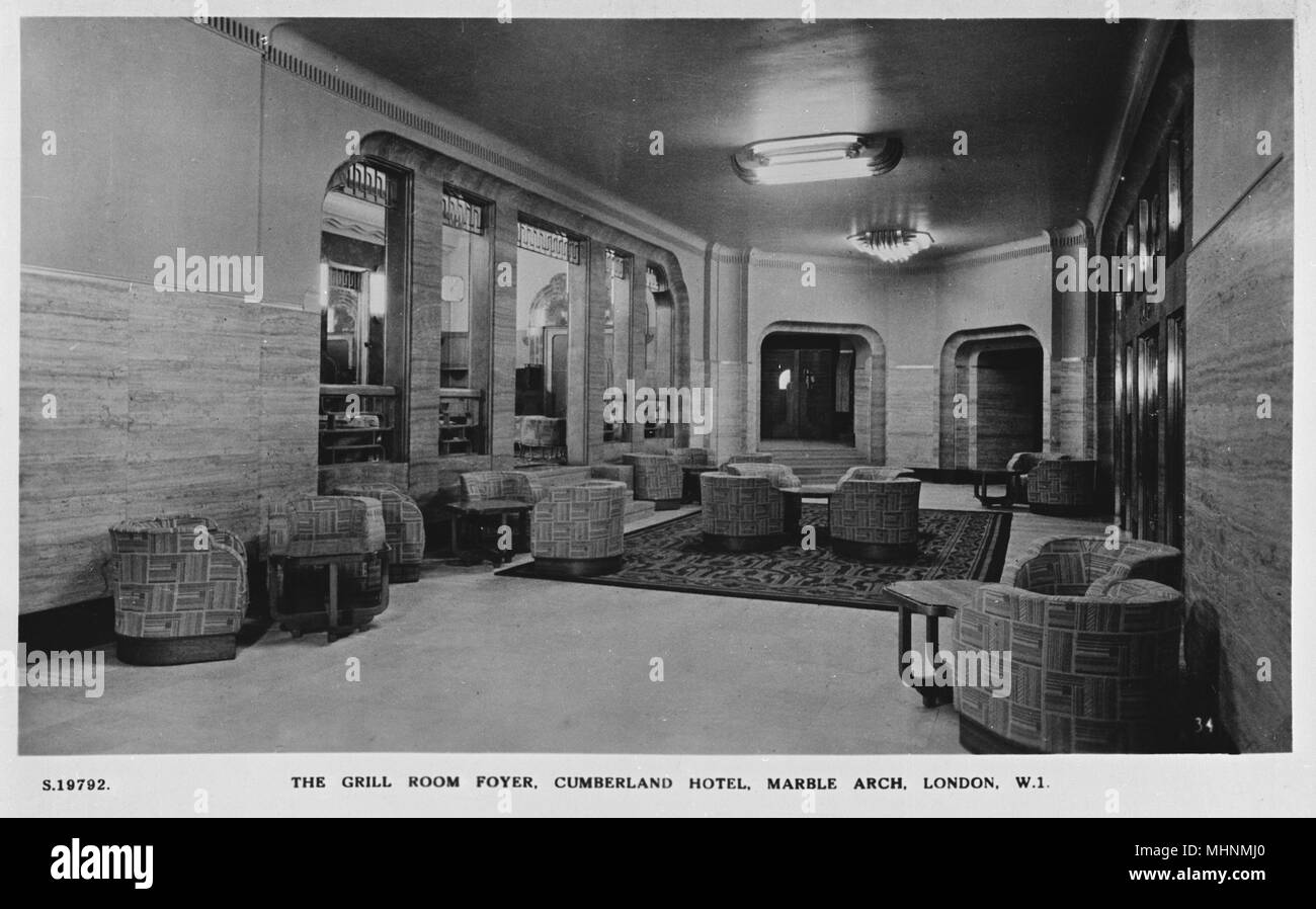 Cumberland hotel stock photos cumberland hotel stock for 1930s hotel decor