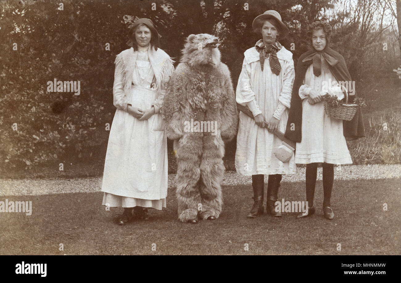 A quartet in fancy dress costume dressed up as the main characters