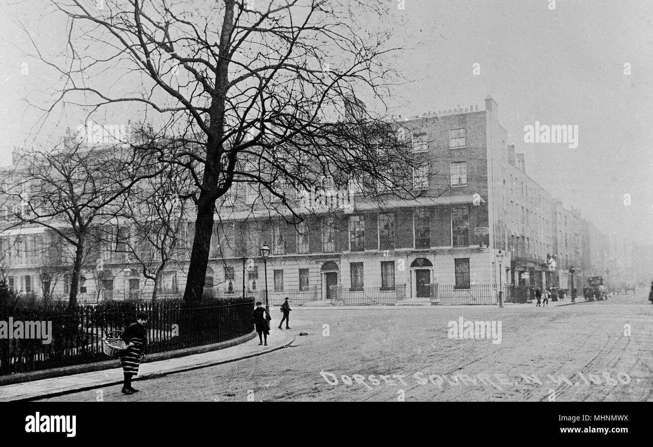 Dorset Square, NW London.     Date: circa 1910 - Stock Image