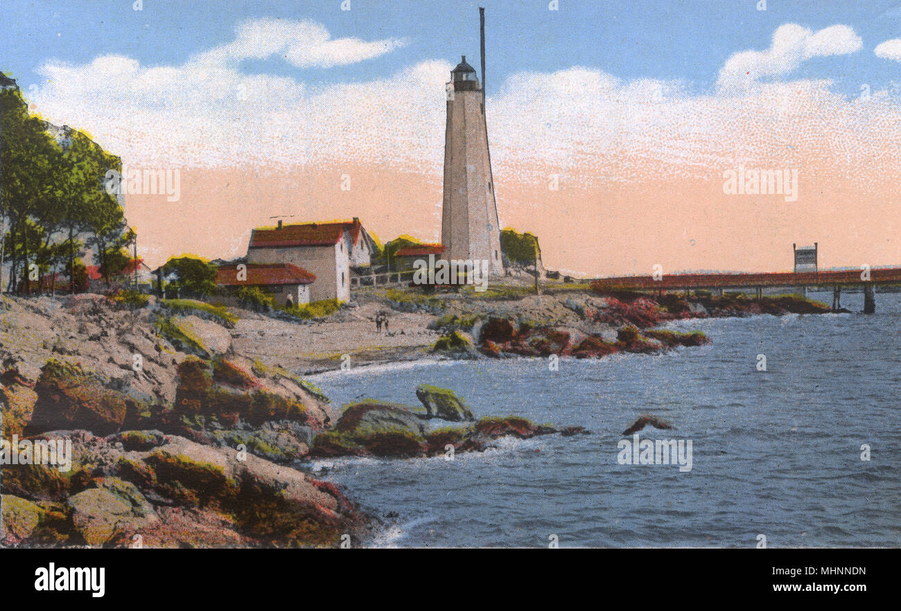 fa628f72f48e3 New Haven, Connecticut, USA - Lighthouse Point. Date: circa 1930s ...