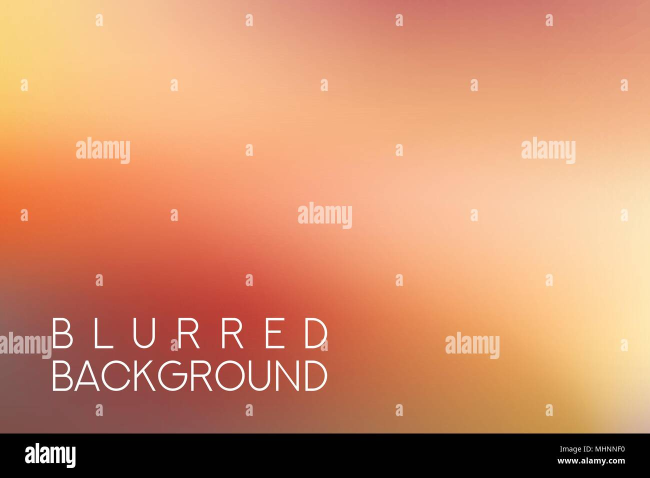 horizontal wide red blurred background - Stock Image