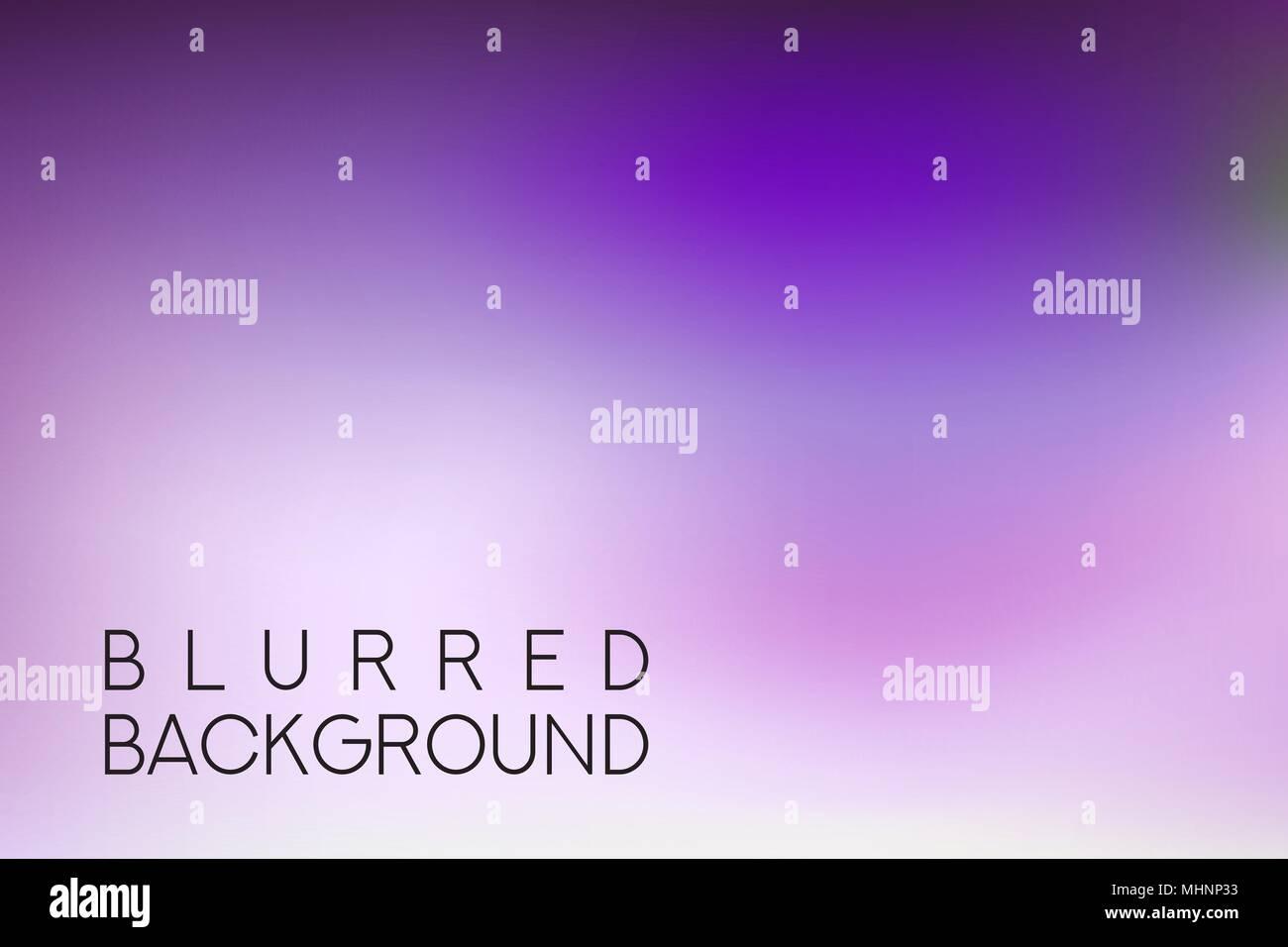 horizontal wide purple blurred background - Stock Vector