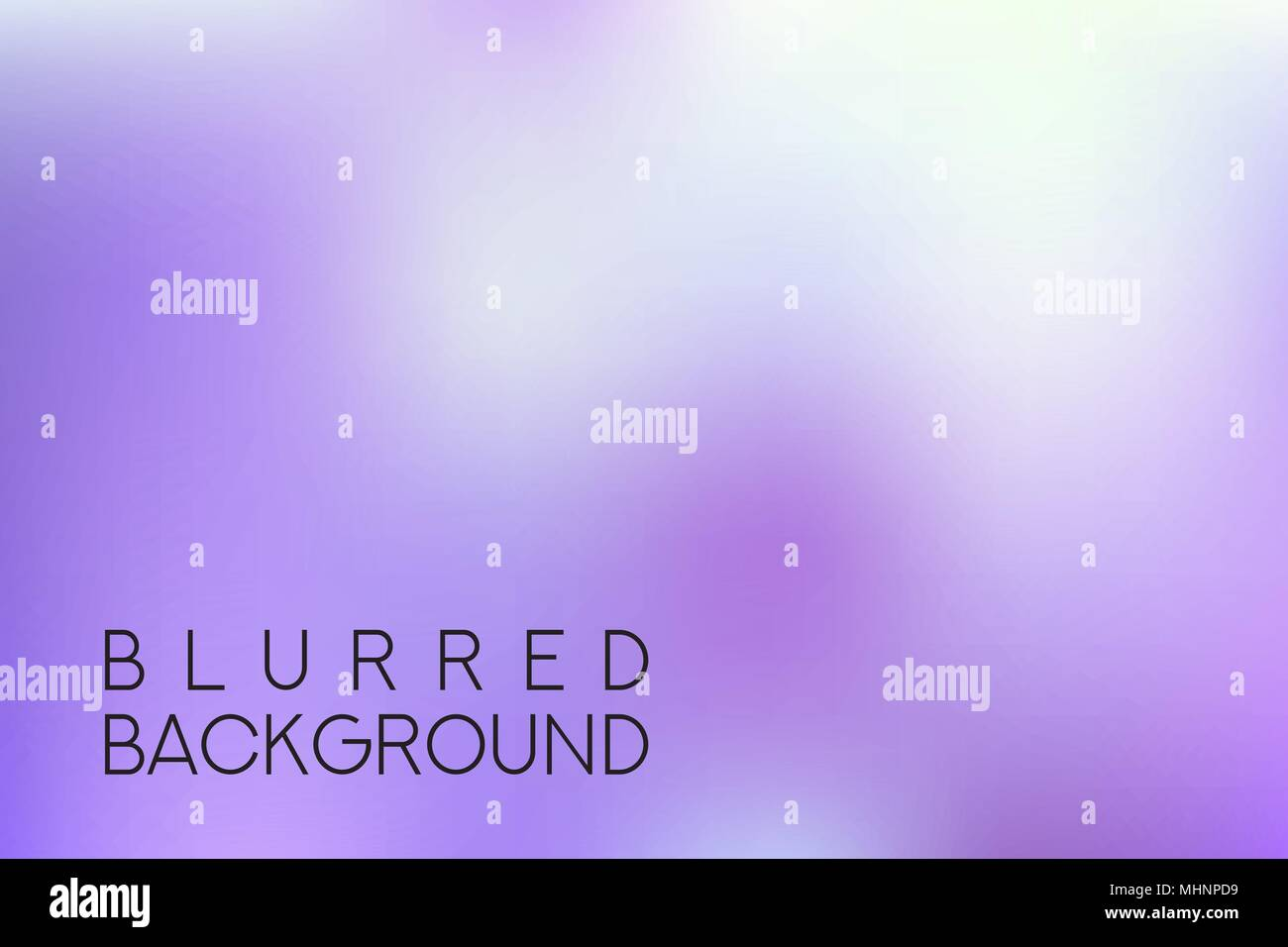 horizontal wide purple blurred background - Stock Image
