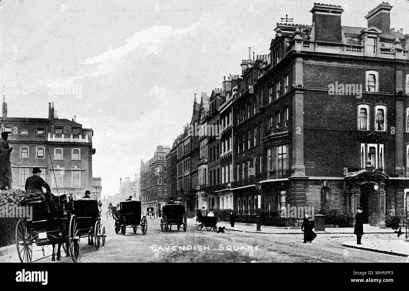 Cavendish Square, London.      Date: circa 1905 - Stock Image