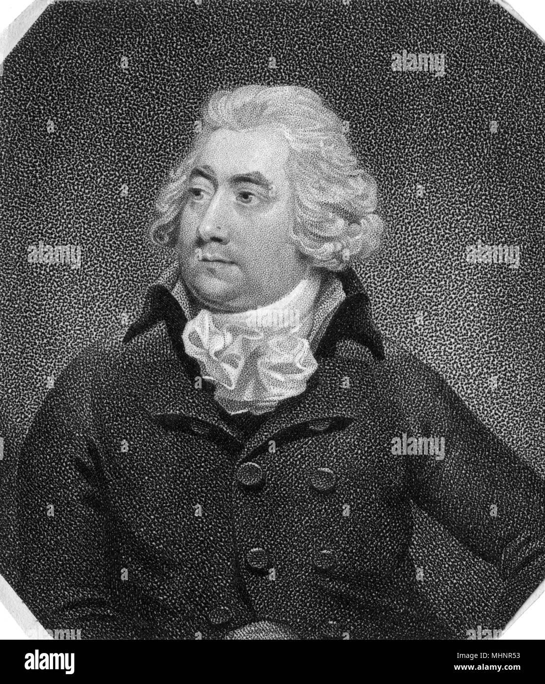 Joseph Shepherd Munden (1758-1832) - Comic Stage Actor.     Date: circa 1795 Stock Photo