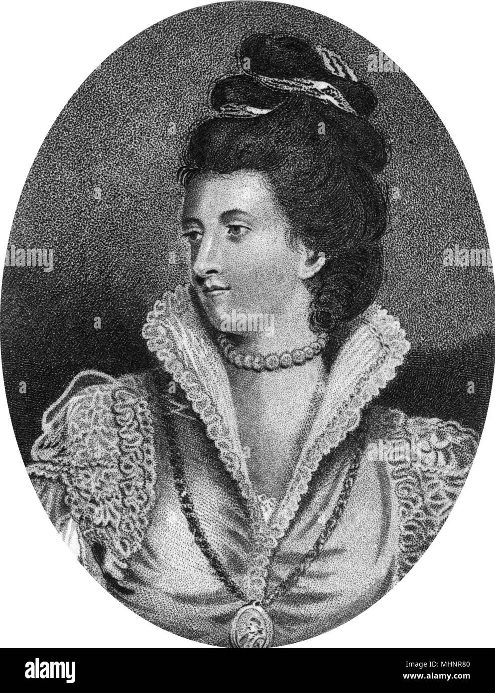 Jane Maxwell, Duchess of Gordon by Sir Joshua Reynolds  (c.1848-1812) - a Scottish Tory political hostess.     Date: circa 1790s - Stock Image