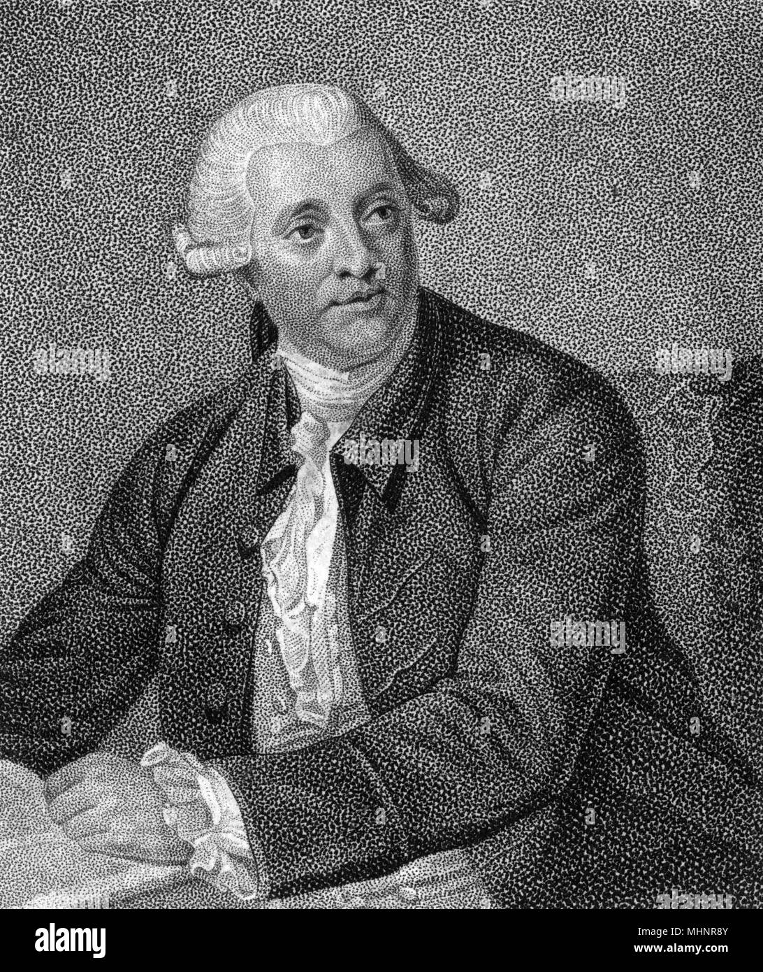 Arthur Murphy (1727-1805) - Author and Playwright     Date: circa 1790s - Stock Image