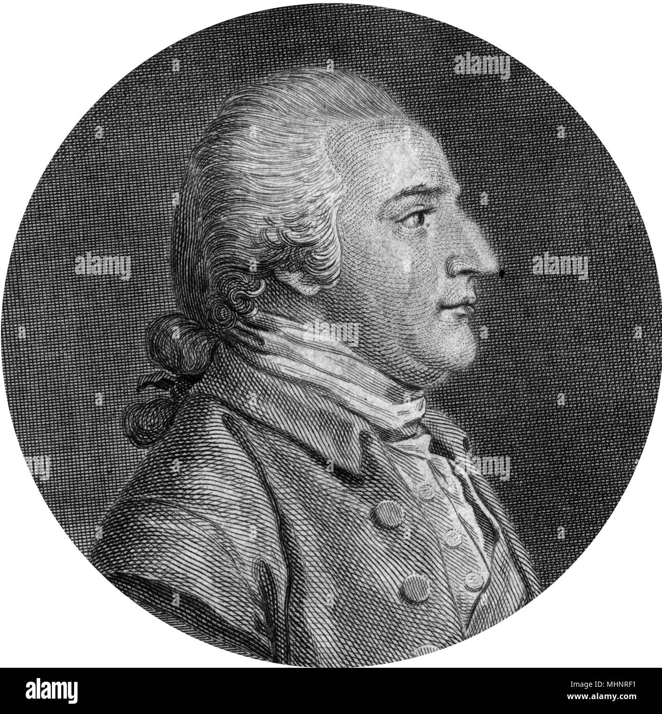 Benedict Arnold (1741-1801) - American military officer and traitor who aided the British during the war of Independence.     Date: circa 1790s - Stock Image