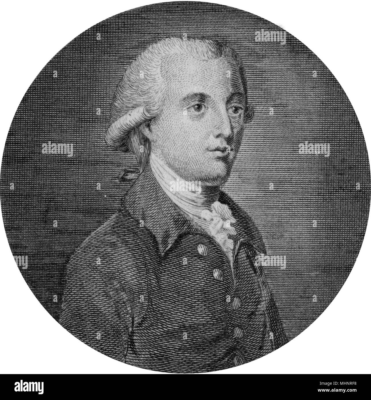 Pitt, William the Younger (1759-1806) - British politician (Tory), Prime Minister.     Date: circa 1780s - Stock Image