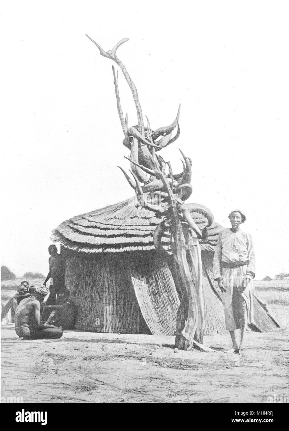 SUDAN. Southern. Rainmaking; Lerpiu ancestral spirit Bor tribe Dinkas 1900 - Stock Image