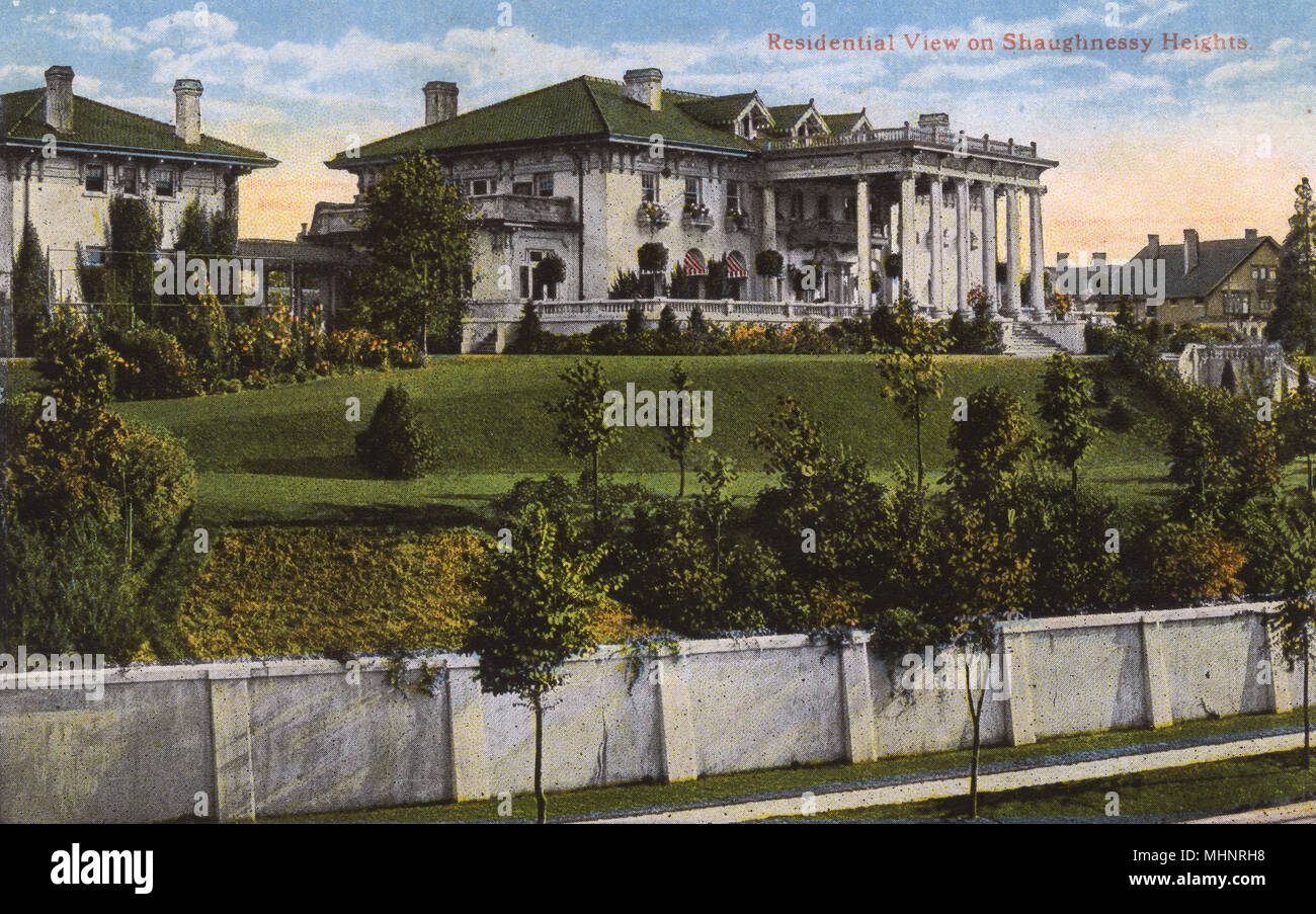 Canada Early 1900\u2019s Postcard AntiqueVintage Residential View on Shaughnessy Heights Vancouver