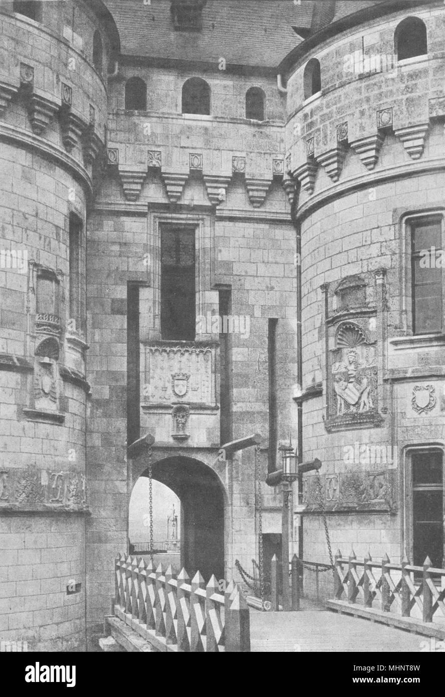 HAUTE- MARNE. Chaumont. Entrée Pont- Levis 1895 old antique print picture - Stock Image