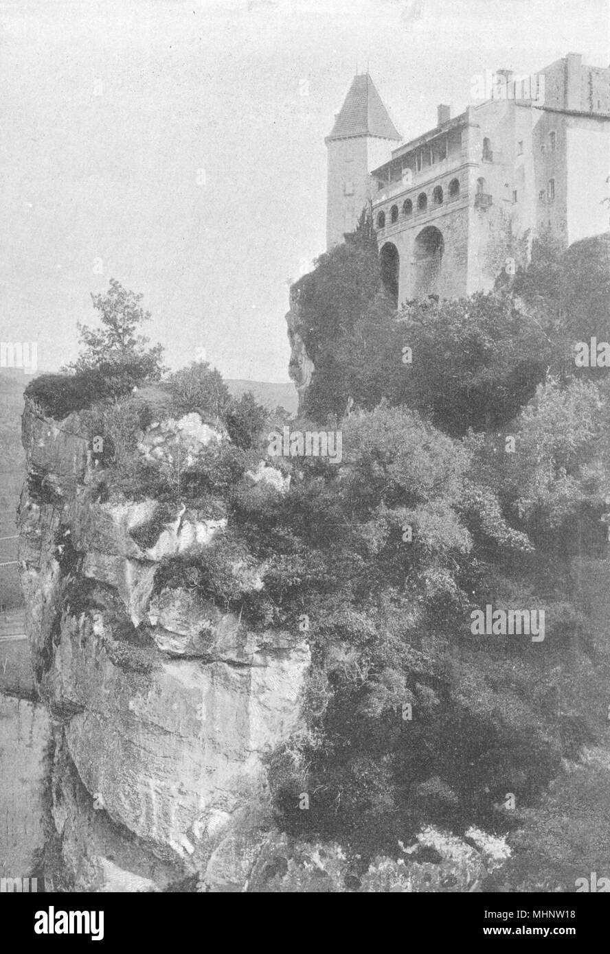 TARN  ET  GARONNE. Bruniquel. Chateau 1895 Old Antique Vintage Print  Picture
