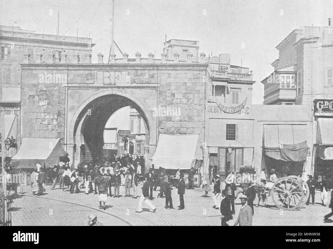 Porte De France 1895 Old Antique Vintage Print Picture