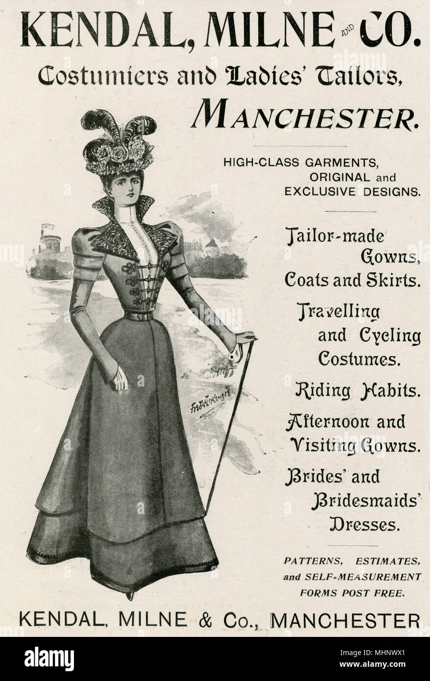 Ladies tailor-made garments and girl's knockabout frock      Date: 1897 - Stock Image