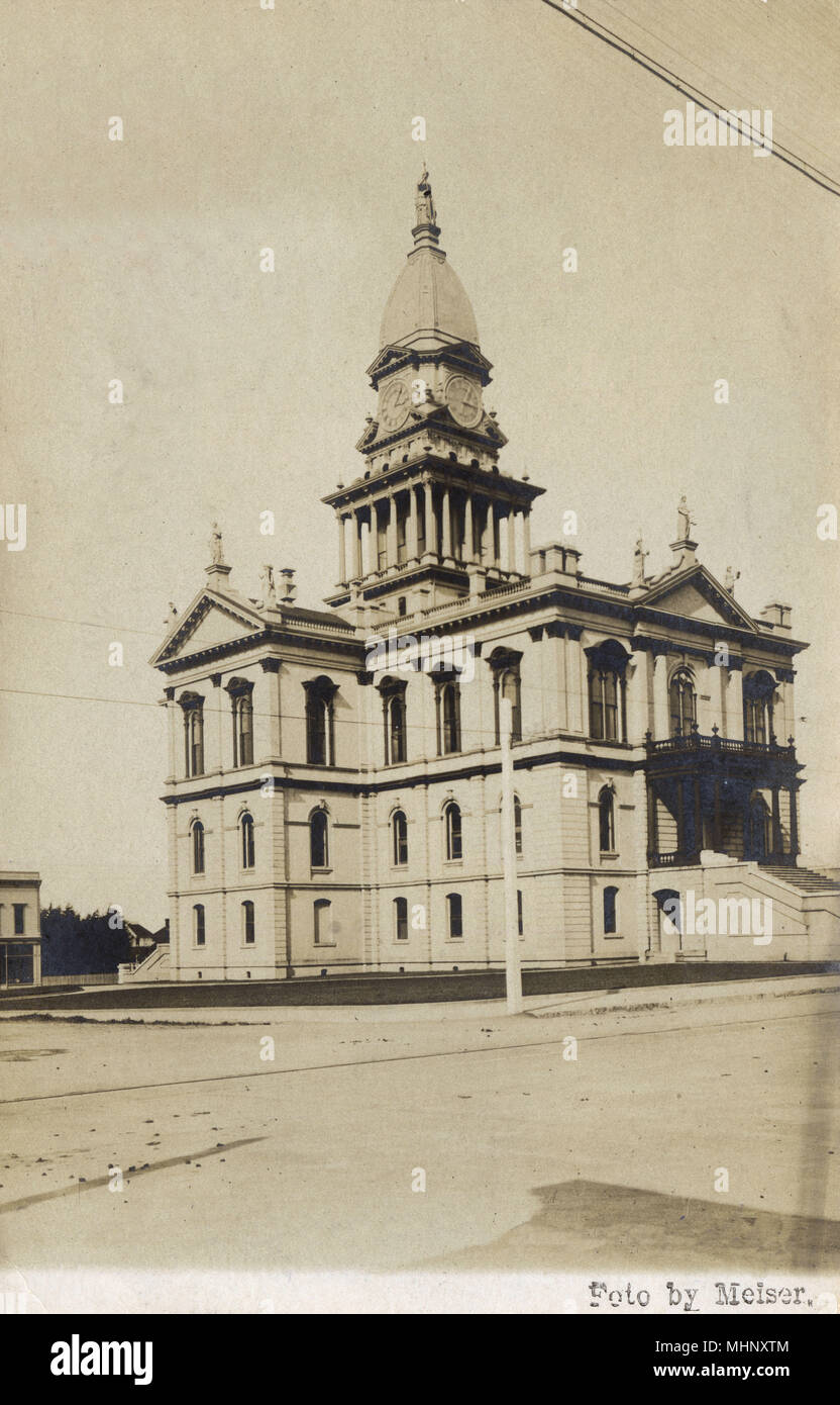 Court House, Eureka, Humboldt County, California, USA.      Date: circa 1908 - Stock Image