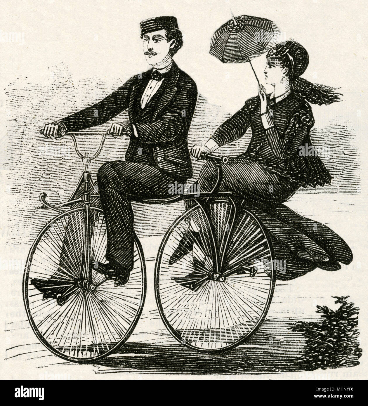 Popular in America this two-seated velocipede an early form of