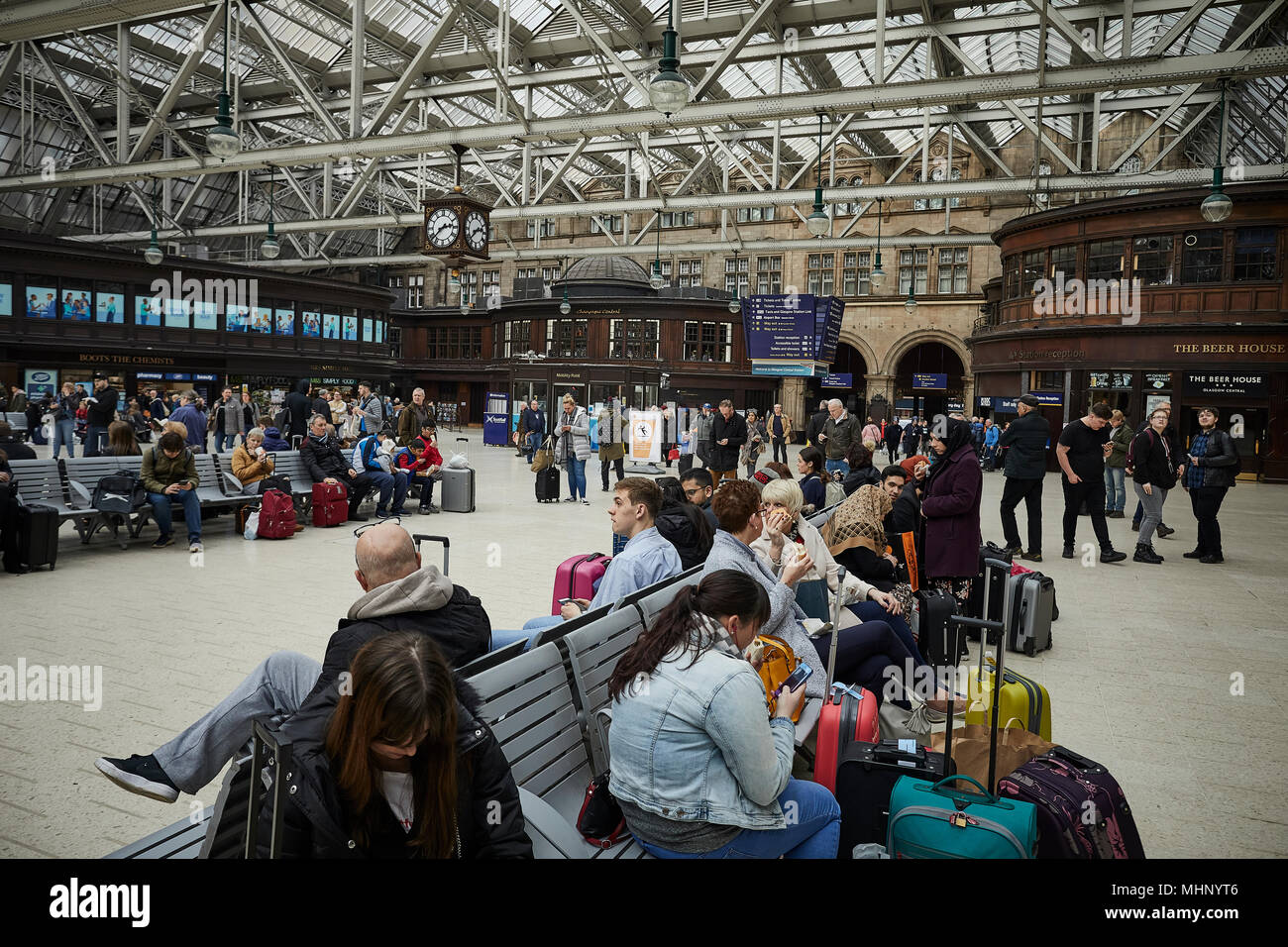 Glasgow in Scotland,   Glasgow Central - Stock Image